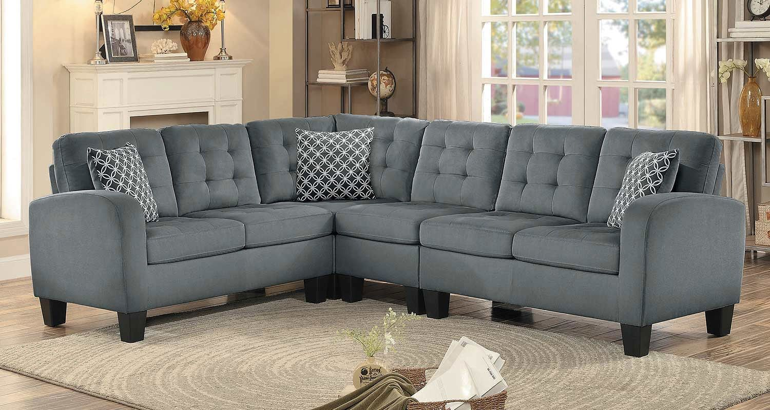 Sinclair Reversible Sectional Gray Grey Sectional Sofa