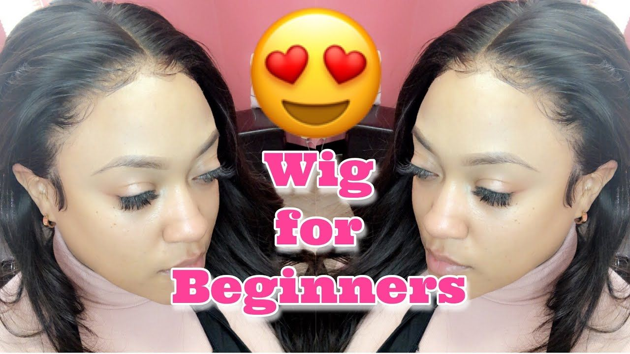 Glueless wig for beginners video my first wig wigs