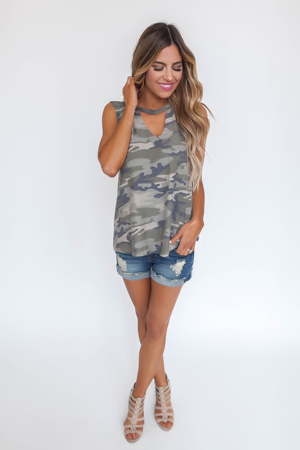 Camo keyhole tank му ѕтуℓє pinterest camo dottie couture