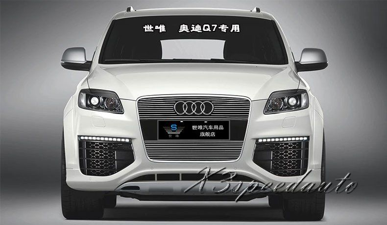 For Audi Q7 2010 2011 2012 Grill Grille Front Center Racing Cover Trim High Quality New Aluminum Alloy Audi Q7 Audi Auto
