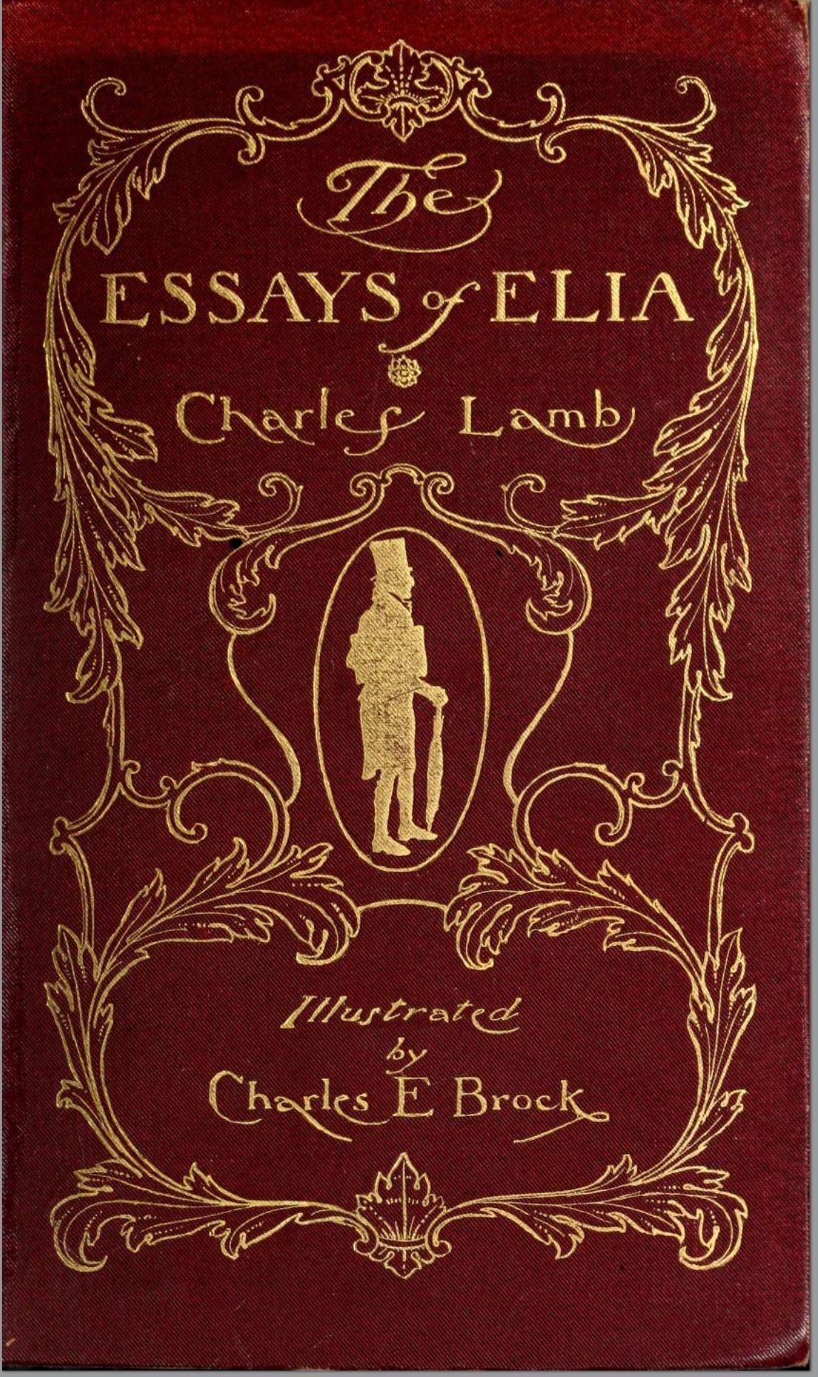 The Essays Of Elia Charles Lamb 1900