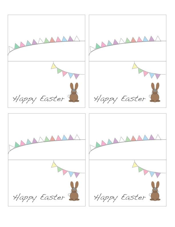 Free printable easter place cards place cards free for Easter name tags template