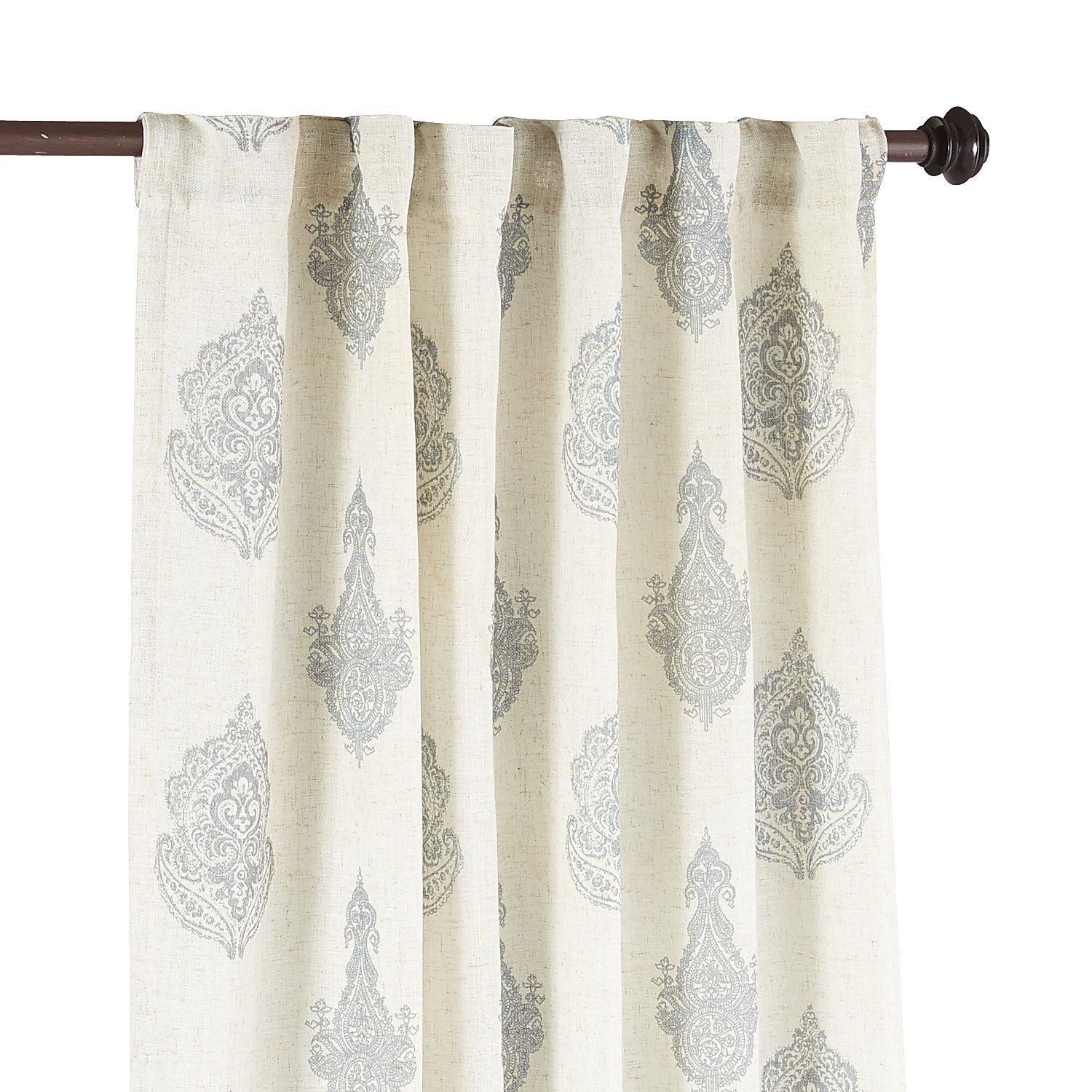 Rambagh Paisley Blue 108 Curtain