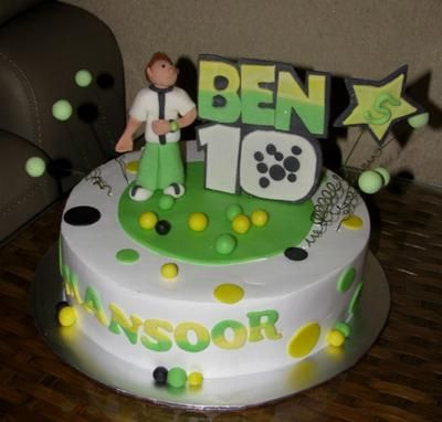 Ben 10 Cake To Make This I Baked A Round
