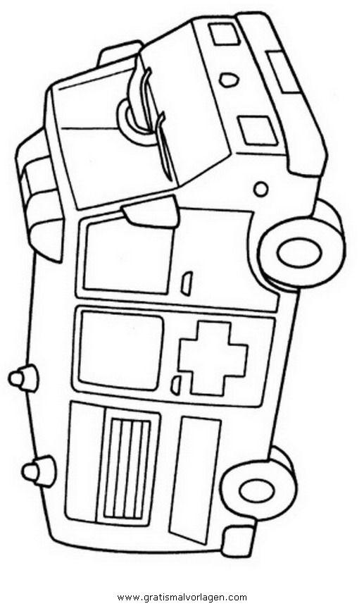 Pin Malvorlage Krankenwagen On Pinterest Krankenwagen Malvorlagen Vorlagen Zum Ausmalen