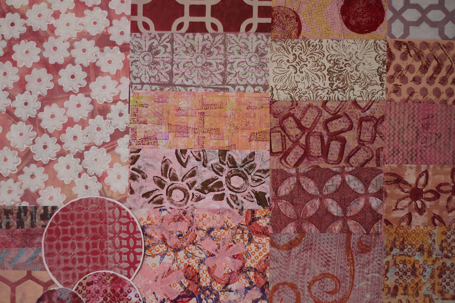 Assorted Handmade Gelli Plate Papers for use in Collages, Art Journals, Mixed Media Art, Scrapbooks, Smash Books, Cards, and more! #94 by KrisCollageMadness on Etsy