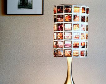 Custom Lampshade From Vintage Photo Slides By RachelReynoldsDesign