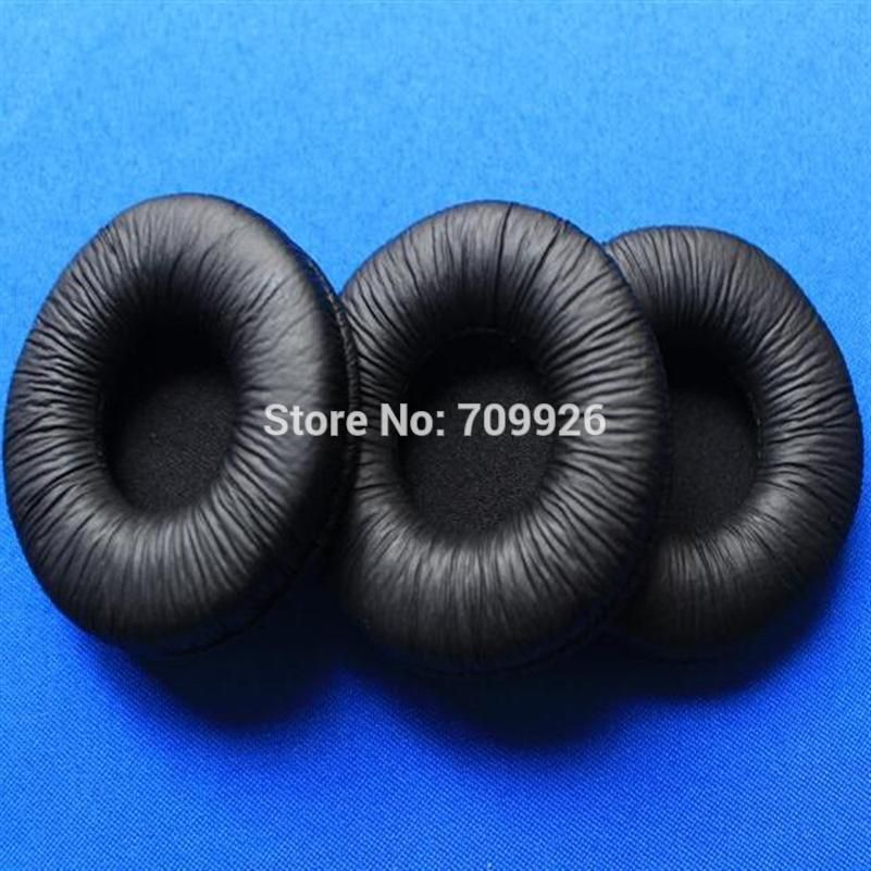 db4dedb8fe9 [ 25% Off ] 50pcs=25pairs 55mm Leather ear cushions headset durable ear pads