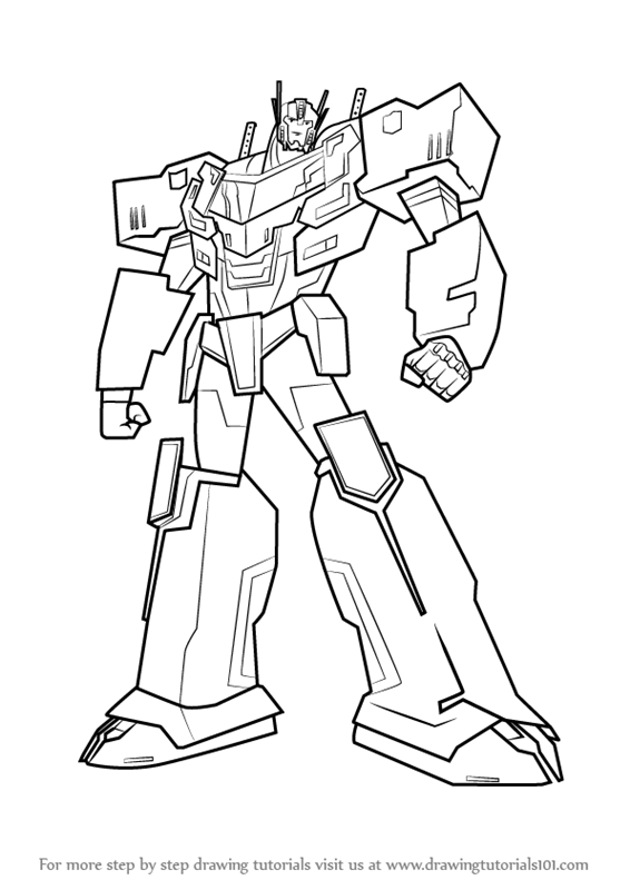 learn how to draw optimus prime from transformers  transformers  step by step   drawing