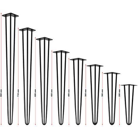 Pieds de table �pingle � cheveux Support de table