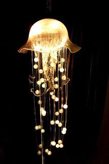 Jellyfish light fixture, lighting designed with inspiration from nature. If you would like this in your space, City Lighting Products is the solution. https://www.linkedin.com/company/city-lighting-products
