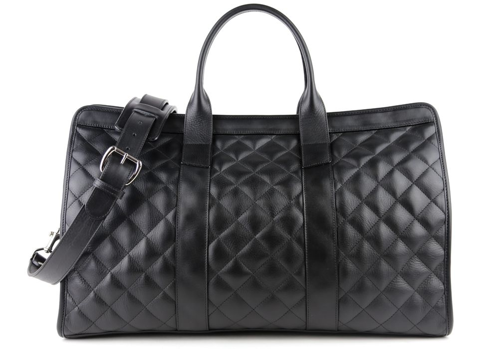 From Frank Clegg - Quilted Leather Travel Duffle Bag - Handmade Leather Travel Bags & Weekender Bags - #businesstravel