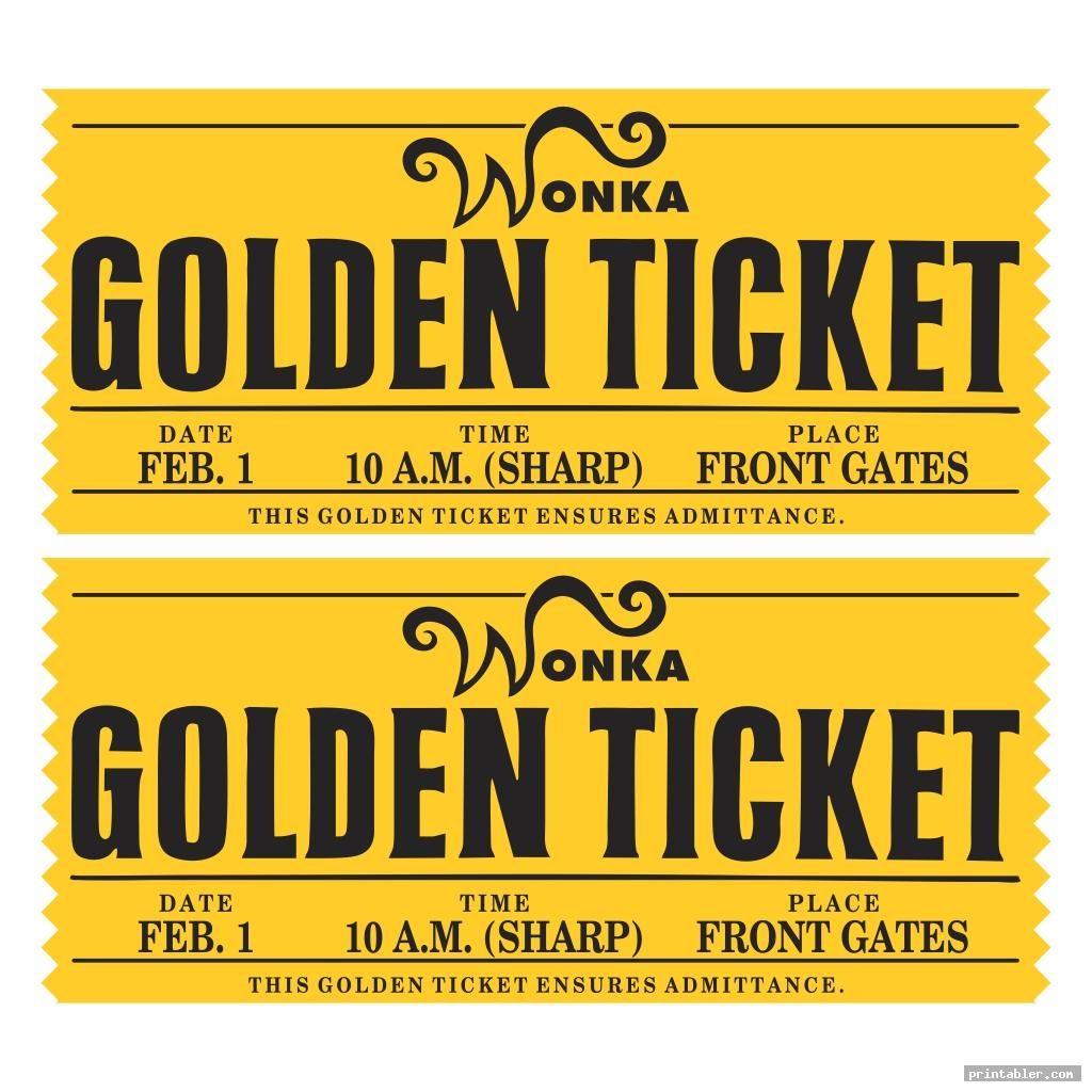 Wonka Golden Ticket Printable Image Free Printabler Com Golden