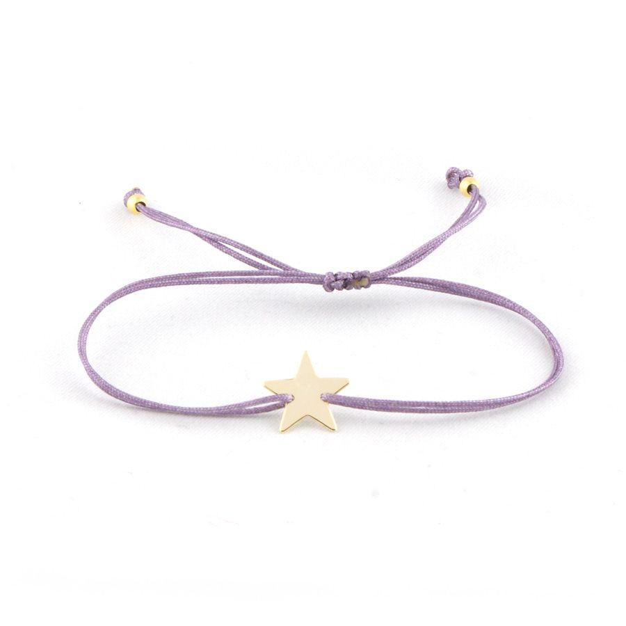 Estrella De Plata Pulsera Ajustable
