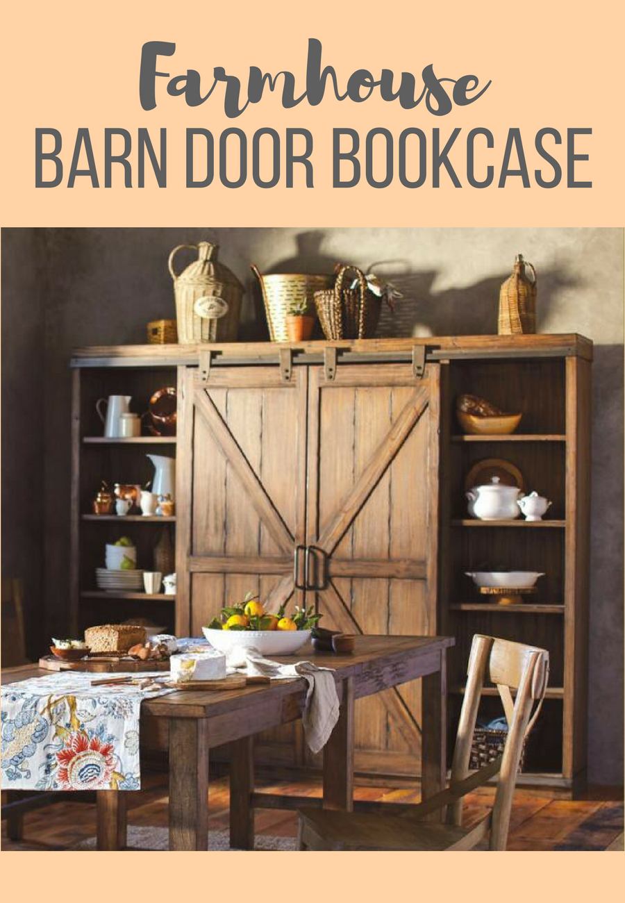 Farmhouse barn door bookcase perfect for my office.