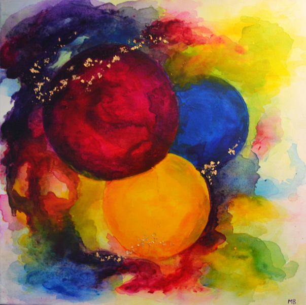 Welp Acryl schilderijen - Abstract schilderij cirkels - Een uniek GX-39