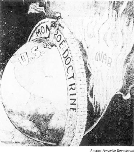 The Monroe Doctrine Was The Declaration By The President James - Map of the us during monroe doctrine