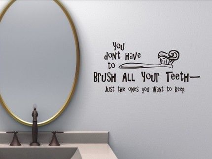 Minimalist Bathroom Wall Quotes Ouval Mirror
