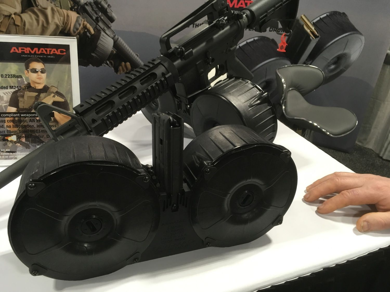 Armatac Makes A Dual Drum Magazine At First Glance One Might Think Of A Beta C Mag However That Is As Far As The Similarities L Ammo Cans Drums 300 Blackout