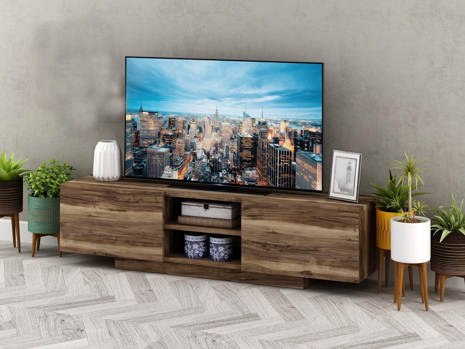 Prestige Decor Tv Stand Tv Stands For Flat Screens Tv Stand For 55 Inch Tv Compatible With 70 65 60 55 50 4 Tv Decor Flat Screen Tv Stand Modern Tv Stand Decor Tv table for 55 inch tv