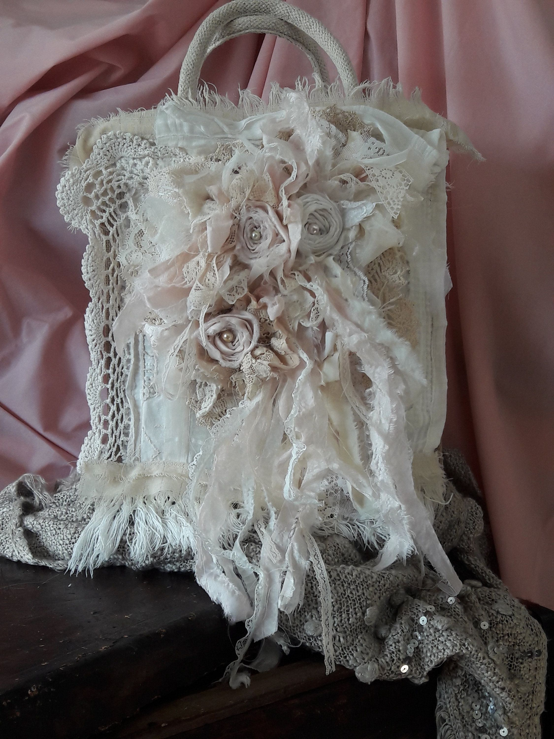 Floral Shabby Chic Ruffled Trim  Sewing//Costume//Crafts//Corsetry
