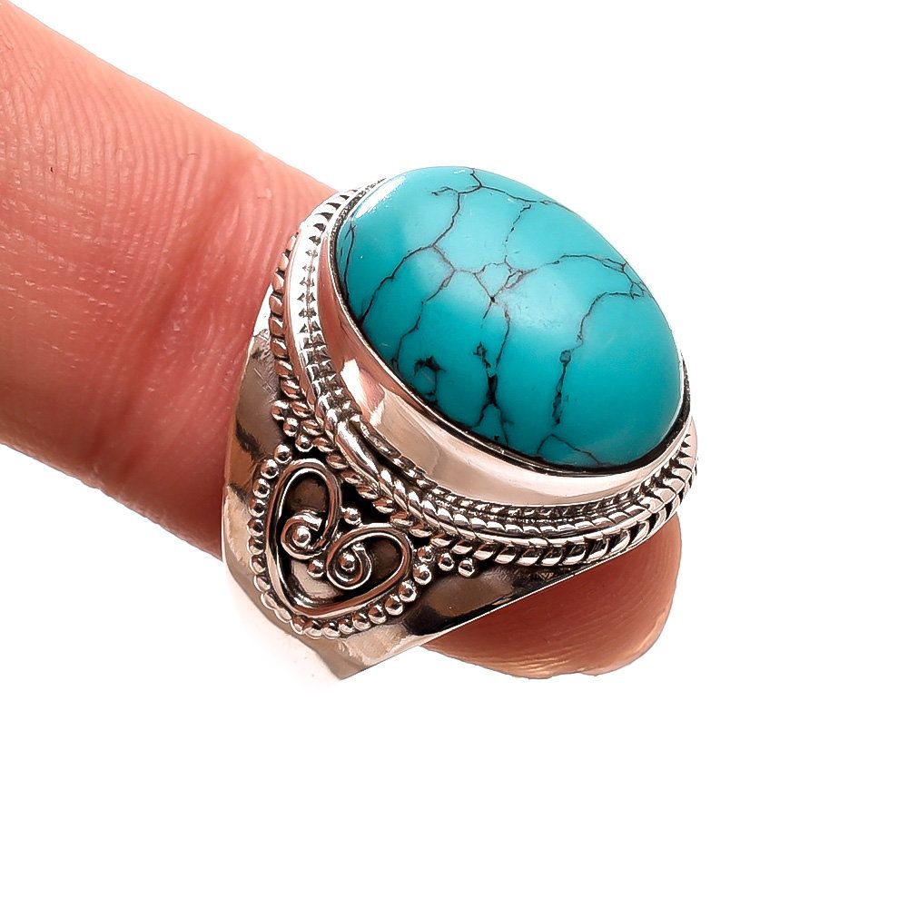 TIBETAN TURQUOISE MANY SHAPE DESIGNS IN 925 STERLING SILVER HANDMADE PRODUCTS