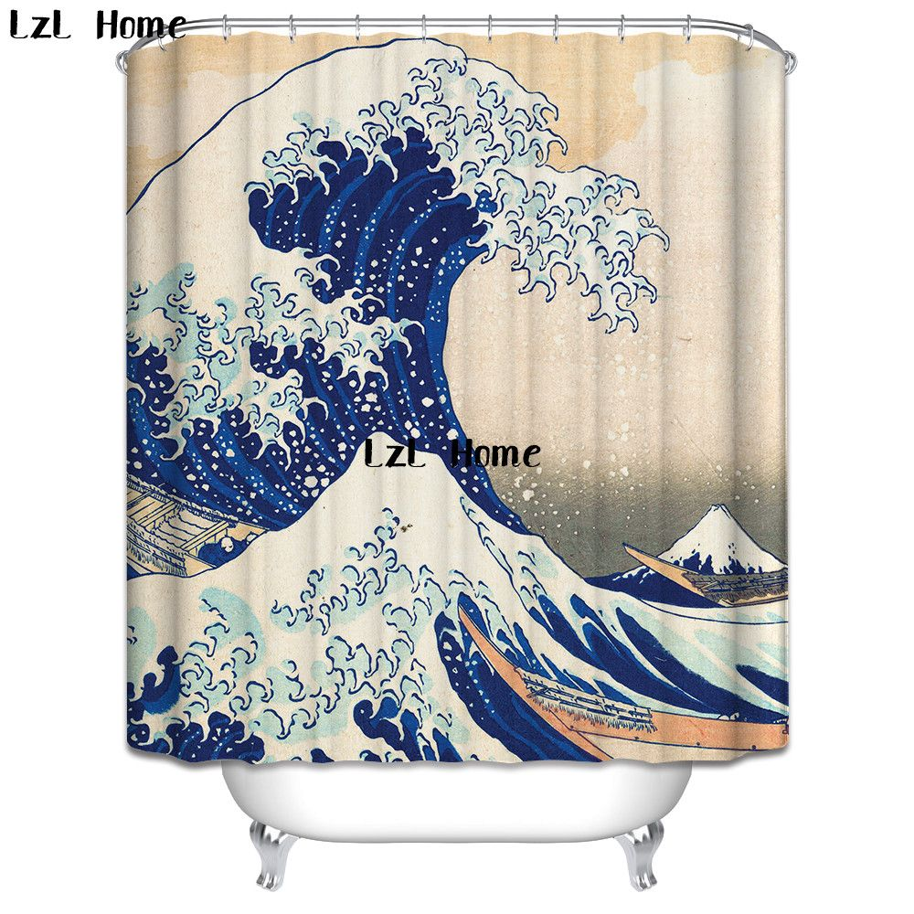 Cheap Shower Curtain Buy Quality Shower Curtain Wave Directly