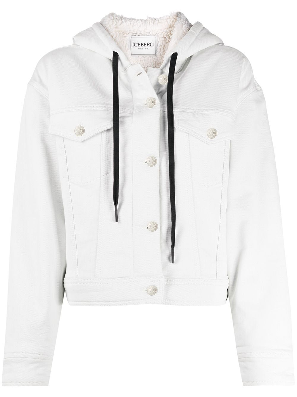 Iceberg Hooded Denim Jacket Farfetch In 2020 Hooded Denim Jacket Jackets Denim Jacket [ 1334 x 1000 Pixel ]