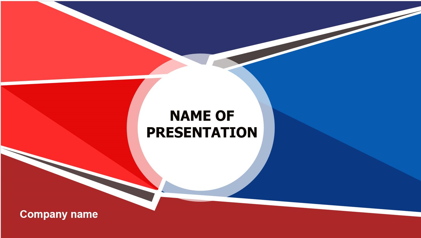 Red Blue Powerpoint Theme This Beautiful And Creative Powerpoint