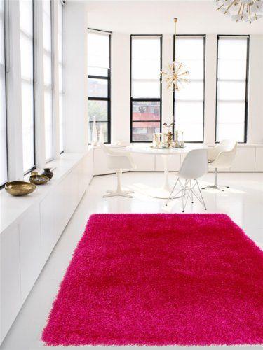 benuta Shaggy Rug Jersey Pink 200x290 cm online kaufen bei - hochflor teppich wohnzimmer