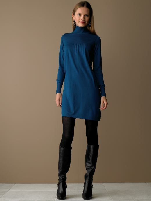 BananaRepublic.com: women: Silk/wool mock turtleneck dress ...