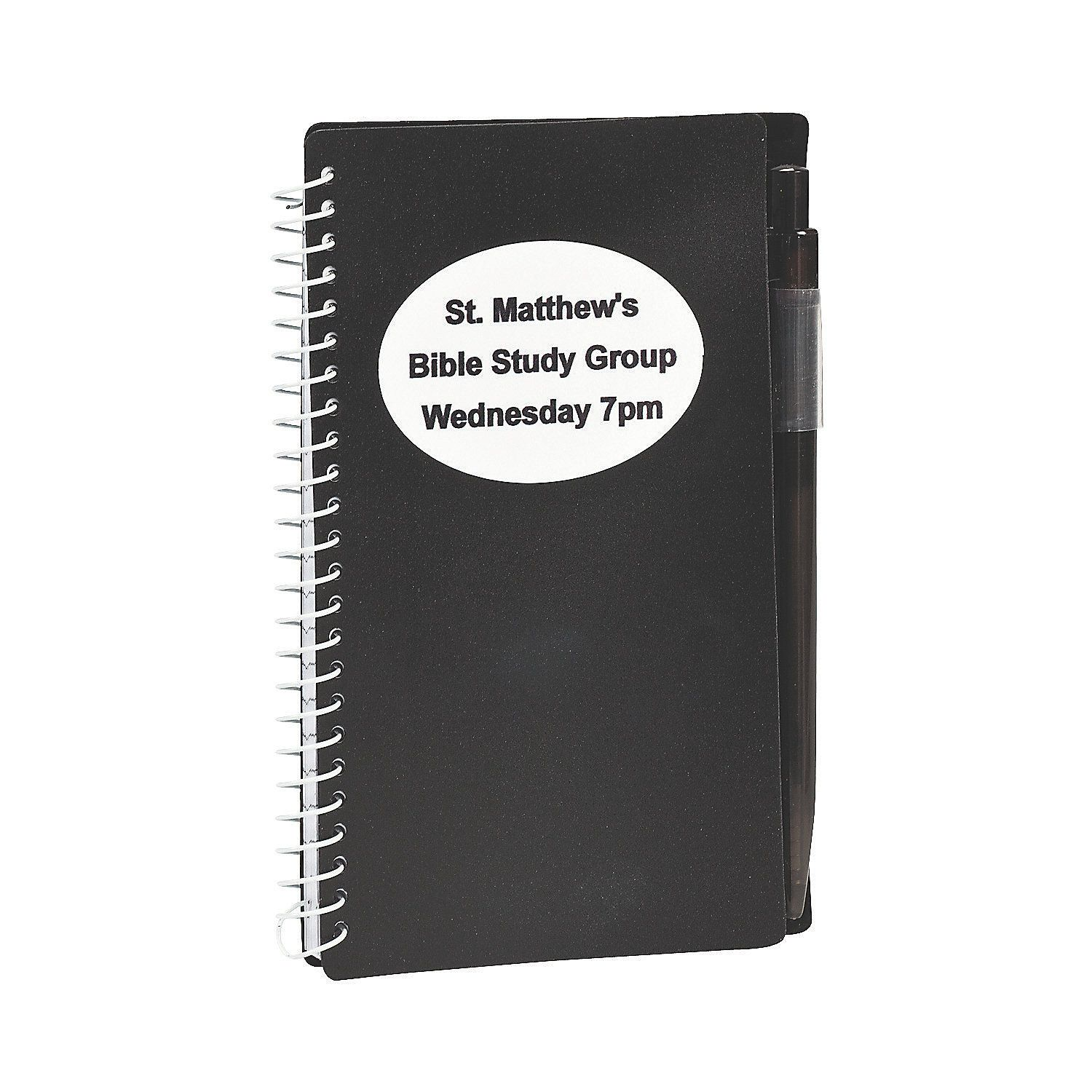 Black+Personalized+Spiral+Notebook+&+Pen+Sets+-+OrientalTrading.com