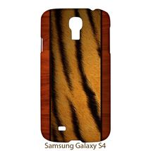 Skin Tiger Style Wood Samsung Galaxy S4 S IV Hardshell Case Cover