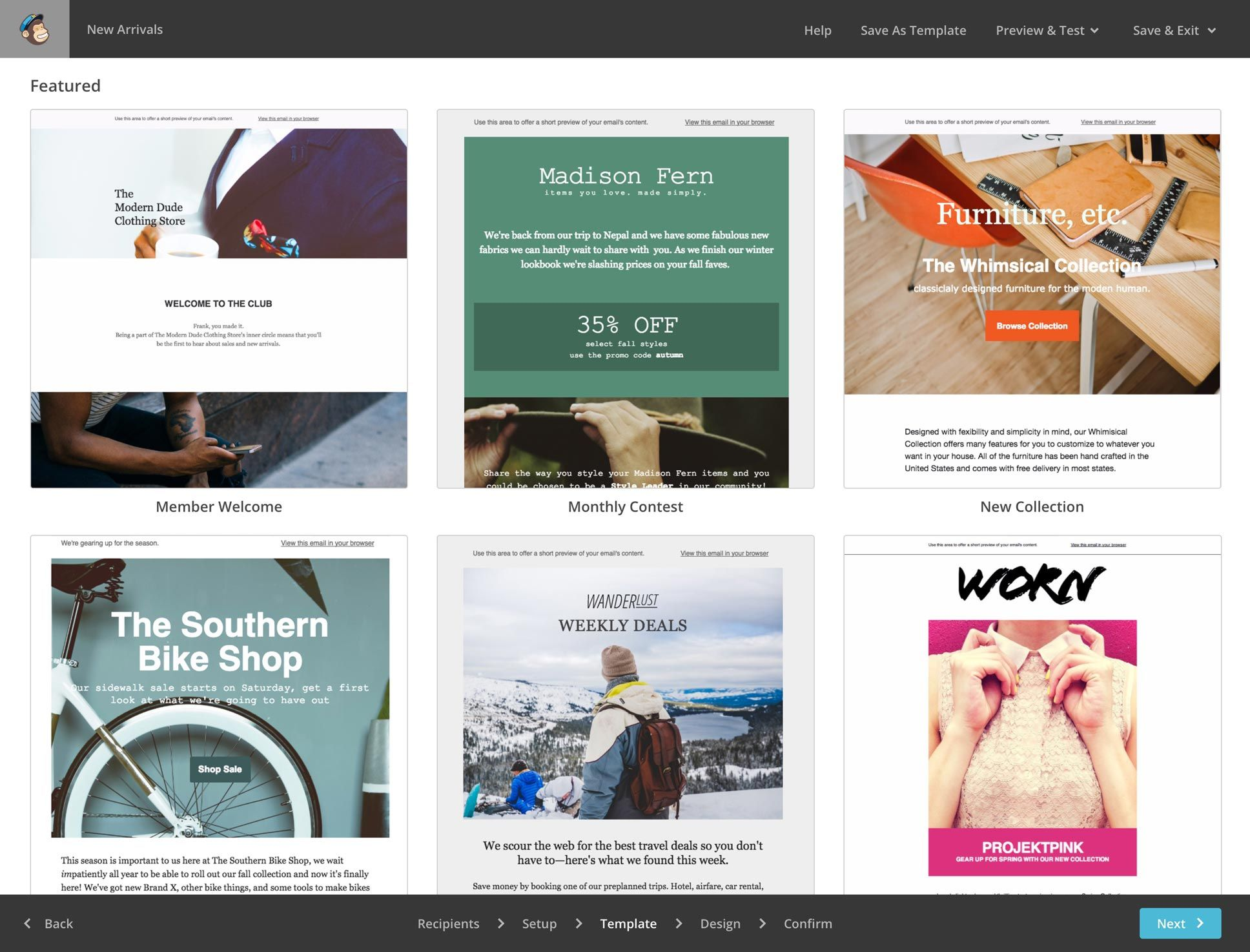 MailChimp makes designing templates for your business emails simple ...