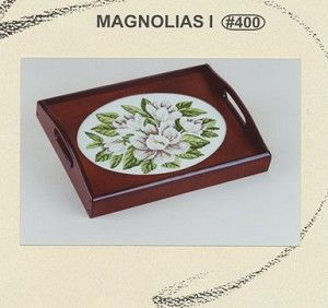 Magnolias l - (Cross Stitch) Find your next floral design at Cobweb Corner. Save 20% off your first order with coupon WELCOMECC  #crossstitch #flowers #cobwebcorner