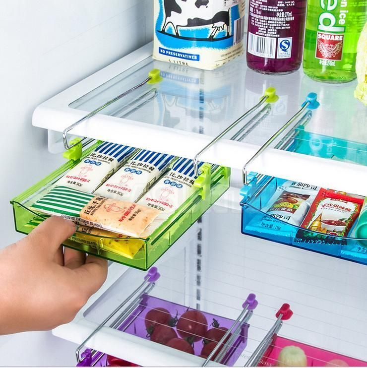 Diy Kitchen Fridge Space Saver Organizer Slide Under Shelf Rack