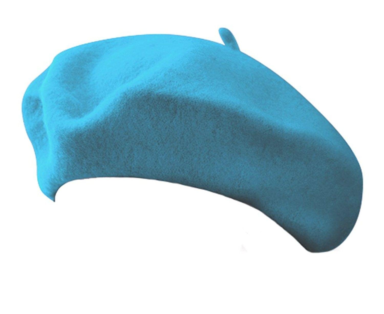 73f1b438c50e9 Classic Wool Blend French Artist Beret TURQUOISE AQUA - C411CDMVL03 - Hats    Caps