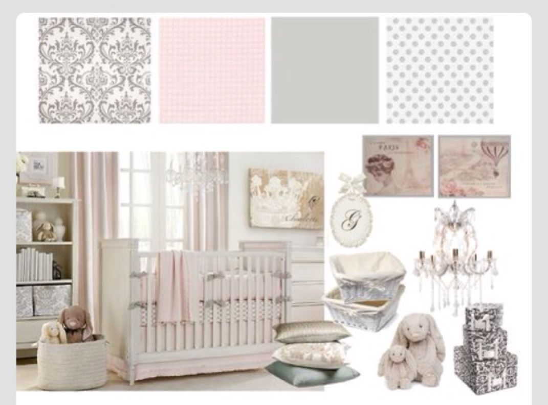 Grey and white baby room ideas - Baby Girl Room Grey And Pink Baby Girl Nursery Ideas