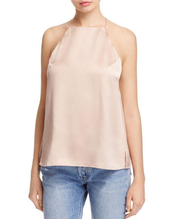 Cami Nyc Elle Button Back Silk Top