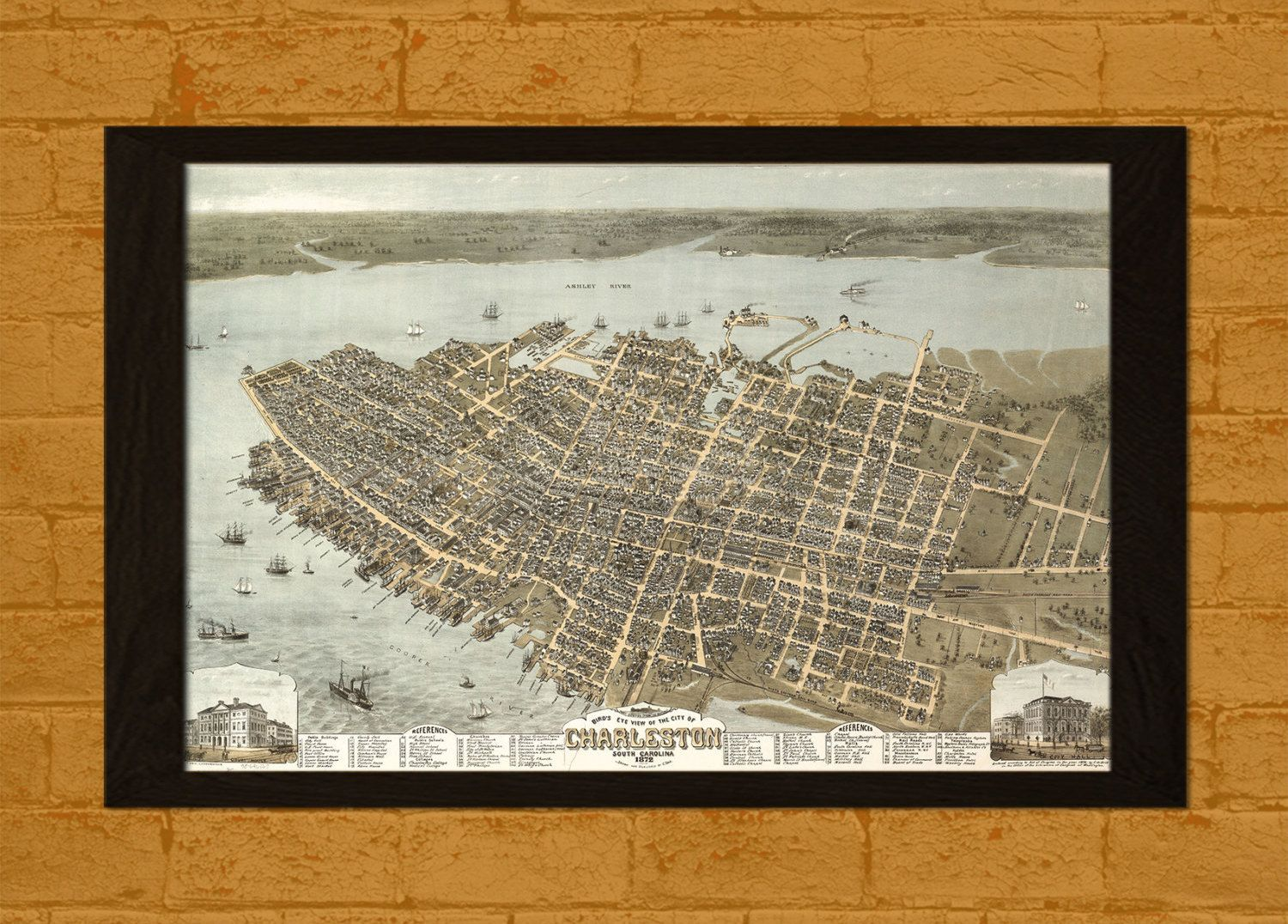 BUY GET FREE Old Charleston Map Ancient Map Of Charleston - Buy ancient maps