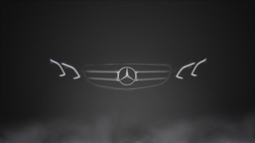 Mercedes Benz, Car Front View, Minimal Wallpaper