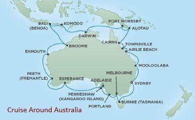 Map of cruise around Australia on Regent Seven Seas. 36-day ... Map Around Australia on map around maldives, map around uk, map around branson missouri, map around colombia, map around ww1, map around bahamas, map around ghana, map around mississippi, map around iran, map around armenia, map around ukraine, map around nepal, map around morocco, map around jordan, map around philippines, map around bangladesh, map around guatemala, map around qatar, map around yemen, map around middle east,