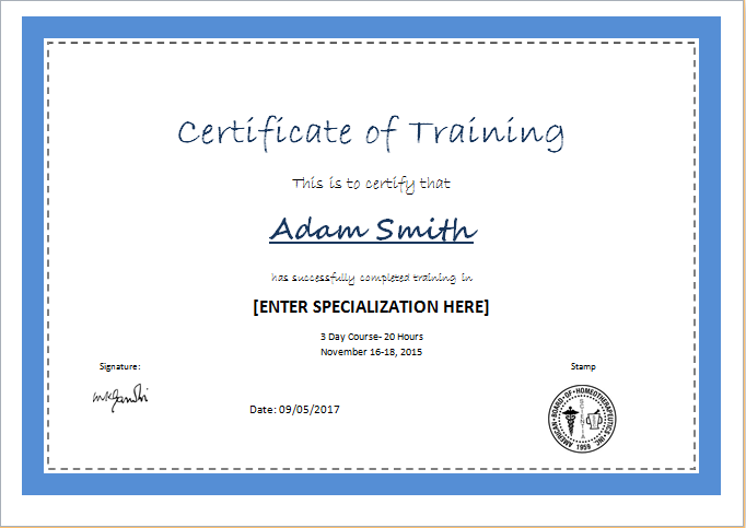 certificate template software free download image
