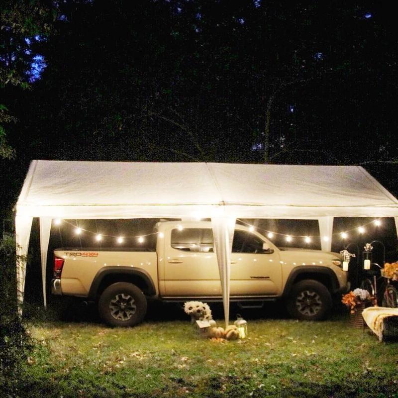 10 X 20 Feet Outdoor Carport Canopy With 6 Steel Legs Carport Canopy Canopy Outdoor