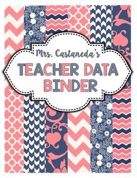 editable teacher data binder cover binder covers binder covers