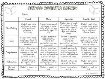 FREE} Guided Reading Assessment Rubric ....Follow for Free 'too ...