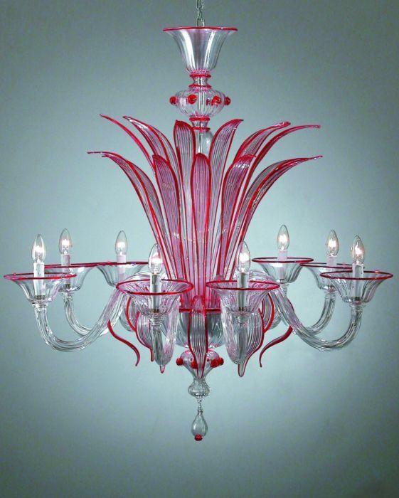 8 arm red murano glass chandelier lighting pinterest 8 arm red murano glass chandelier aloadofball Images