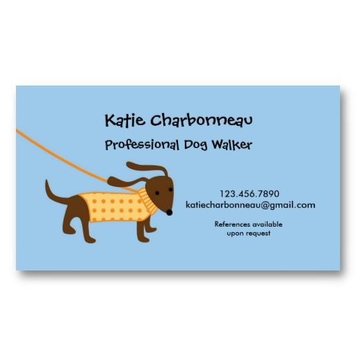 Fun An Modern Dog Walker Business Card