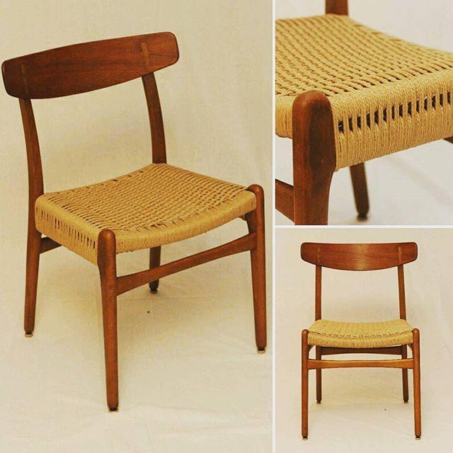 Teak Hans Wegner Ch 23 Dining Chairs Set Of 4 Teak Mid Century
