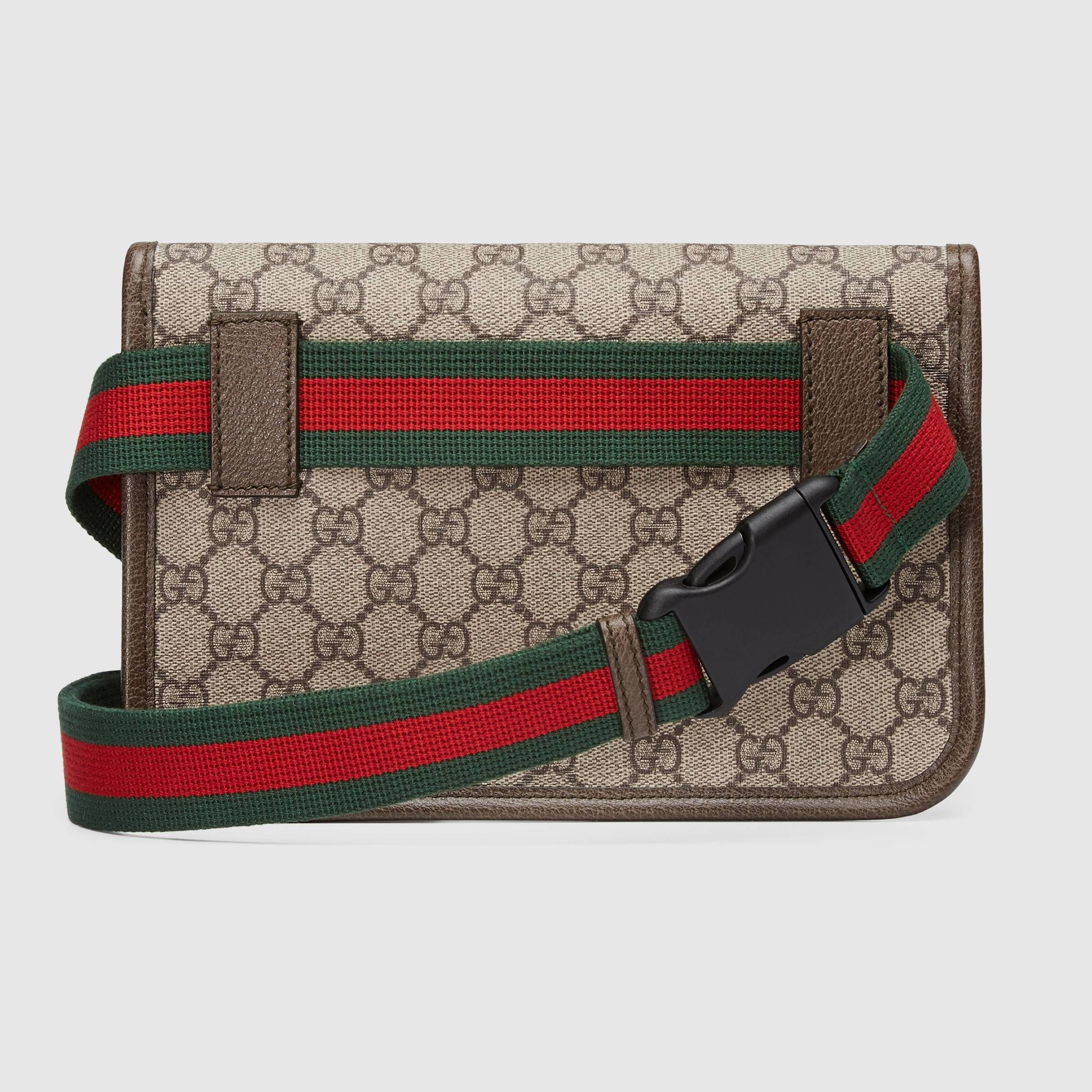f7c0439c86f85a GG Supreme belt bag in Beige/ebony GG Supreme canvas, a material with low  environmental impact, with brown leather trims | Gucci Women's Luggage &  Lifestyle ...